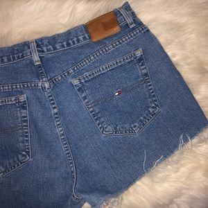 Tommy Hilfiger Distressed Cutoff Denim Shorts